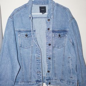 Denim Jacket with Patches Embroidery